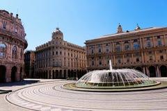 Piazza De Ferrari Stock Photo