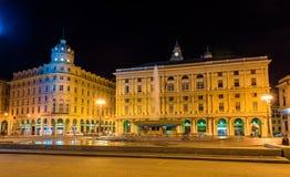 Piazza De Ferrari, the main square of Genoa Stock Photos