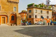 Piazza de Mercanti in Rome, Italy Stock Photo