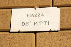 Piazza de Pitti in Florence, Italy Stock Photography