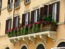 Piazza de Vensters van Navona royalty-vrije stock afbeelding
