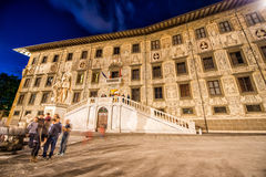 Piazza dei Cavalieri at night, Pisa Royalty Free Stock Photography