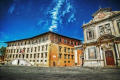 Piazza dei Cavalieri in Pisa in hdr Royalty Free Stock Image