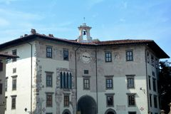 Piazza dei Cavalieri in Pisa , Italien Royalty Free Stock Images