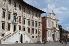 Piazza dei Cavalieri in Pisa, Italy Stock Photography