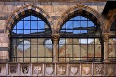 Piazza dei mercanti milano Stock Image