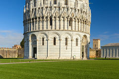 Piazza dei miracoli baptistery Stock Image