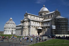 Piazza dei Miracoli with cathedral of Pisa,Italy Royalty Free Stock Photography