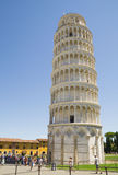 Piazza dei Miracoli with famous leaning tower of Pisa Royalty Free Stock Photography