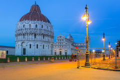 Piazza dei Miracoli with Leaning Tower of Pisa Royalty Free Stock Photos