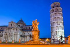 Piazza dei Miracoli with Leaning Tower of Pisa. Italy Royalty Free Stock Image