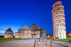 Piazza dei Miracoli with Leaning Tower of Pisa Stock Photography