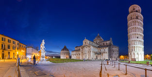 Piazza dei Miracoli with Leaning Tower of Pisa Royalty Free Stock Photography