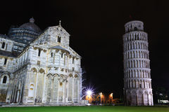 Piazza dei Miracoli with the Leaning Tower of Pisa, Italy. Italian landmark Stock Image