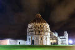 Piazza dei Miracoli with the Leaning Tower of Pisa, Italy. Italian landmark Royalty Free Stock Photos