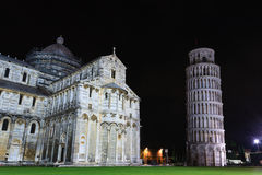 Piazza dei Miracoli with the Leaning Tower of Pisa, Italy. Italian landmark Royalty Free Stock Image