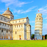 Piazza dei Miracoli in Pisa Stock Afbeelding