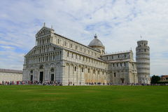 Piazza dei Miracoli - Pisa cathedral and leaning tower Royalty Free Stock Photography