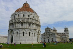 Piazza dei Miracoli - Pisa dome, cathedral and leaning tower Royalty Free Stock Photo