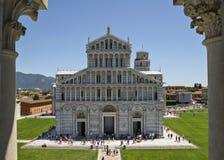 Piazza dei Miracoli in Pisa, Italië Royalty-vrije Stock Afbeeldingen