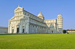 Piazza dei Miracoli in Pisa - Italy. Duomo and Leaning Tower in Piazza dei Miracoli in Pisa - Italy stock image
