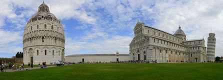 Piazza dei Miracoli - Pisa panoramic view Royalty Free Stock Image