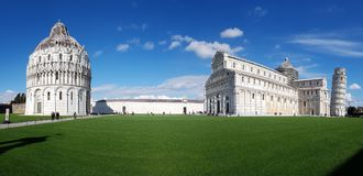 Piazza dei Miracoli, sky, landmark, stately home, daytime. Piazza dei Miracoli is sky, daytime and château. That marvel has landmark, grass and palace and royalty free stock photography