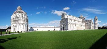 Piazza dei Miracoli, sky, landmark, stately home, grass. Piazza dei Miracoli is sky, grass and national trust for places of historic interest or natural beauty royalty free stock photography