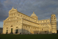 Piazza dei Miracoli at Sunset Stock Photos