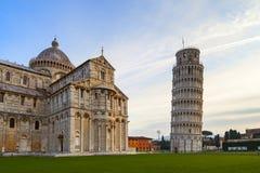 Piazza dei miracoli widok Obrazy Royalty Free