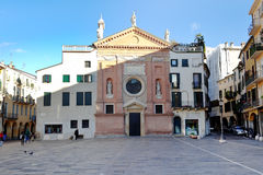 Piazza dei Signori and Church of San Cleme Royalty Free Stock Photo