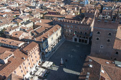Piazza dei signori from top verona veneto italy europe Royalty Free Stock Image