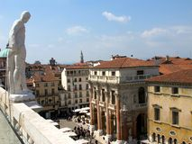Piazza dei Signori in Vicenza. From above, Italy Stock Photography