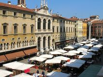 Piazza dei Signori in Vicenza. Italy Royalty Free Stock Photos