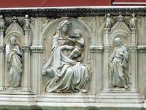 Piazza del园地,锡耶纳。 图库摄影