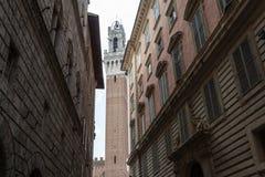 Piazza del园地,锡耶纳意大利 库存图片