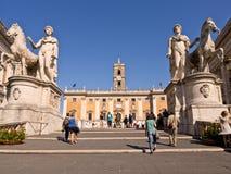Piazza del Campidogliio Ρώμη Ιταλία Στοκ Εικόνες