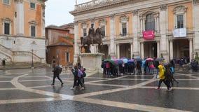 Piazza del Campidoglio stock video