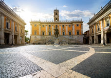 Piazza del Campidoglio. On Capitoline Hill ,Rome,Italy Stock Images