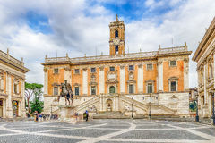 Piazza del Campidoglio on Capitoline Hill, Rome, Italy Royalty Free Stock Photography
