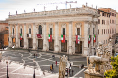 Piazza del Campidoglio and Capitoline Museums, Rome Stock Image