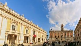 Piazza del Campidoglio Capitolineheuvel, Rome, het stock videobeelden