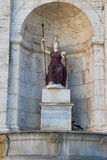 The goddess Athena in Piazza del Campidoglio Stock Photo