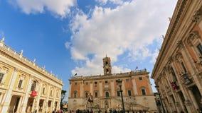Piazza del Campidoglio gezoem Capitolineheuvel, Ro stock video