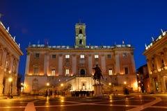 Piazza del Campidoglio, Roma Italia Imagenes de archivo