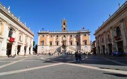 Piazza del Campidoglio, Rome Stock Photography