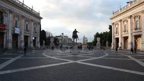 Piazza del Campidoglio Rome Italië stock footage