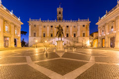 Piazza del Campidoglio, Rome Italy. Piazza del Campidoglio, Rome, Italy during blue hour Stock Photo