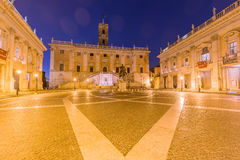 Piazza del Campidoglio, Rome Italy. Piazza del Campidoglio, Rome, Italy during blue hour Royalty Free Stock Photo