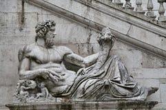 Piazza del Campidoglio in Rome, Italy Stock Photos